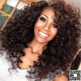 Kinky Curly Human Hair Afro Wigs Australia - 6A Grade Mongolian Afro Kinky Curly Hairs Lace Front Wigs Human Hair Front Lace Wigs for Black Women With Baby Hair