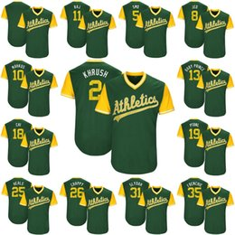 b22dd9c31 ... 2 Khris Davis Khrush 2017 Little League World Series Players Weekend 8  Jed Lowrie 10 Marcus Mens Athletics Rajai ...