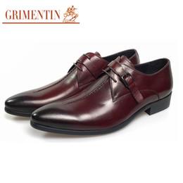 Leather Shoes Sale NZ - GRIMENTIN Hot sale Italian designer formal mens dress shoes fashion men oxford shoes genuine leather party business wedding men shoes