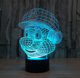 online shopping Novelty Lighting Super Mario Bros Table Desk Lamp Touch Sensor D LED Bulb Nightlight Atmosphere Decor Lamp for Kids Bedroom