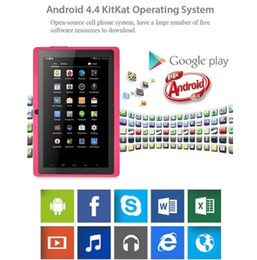 """Kids Tablet Pcs Inch NZ - Quad core android 4.4 allwinner a33 capacitive screen 7"""" inch Dual Webcam 1gb+8gb children kids tablet pc the wifi g sensor freeshipping"""