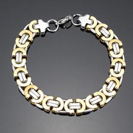 $enCountryForm.capitalKeyWord Canada - Men Personality Bracelets Titanium Steel Snake Chain Pulseras Wristbands Bangle Fashion Jewelry Punk Brace lace Gold Silver 8mm 10mm