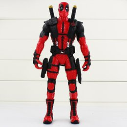 Discount x men movie action figures American Movie X-Men Deadpool Figure PVC Action Figure Collectible Model Toy Deadpool 34cm Toy Free Shipping