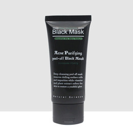 Barato Casca De Poro De Limpeza Profunda-SHILLS 50ml Deep Cleansing Black Mud Mask Daily Pore Cleaner Purifying Peel-off Mask Blackhead Acne Removedor Facial Mask