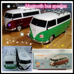 Venta al por mayor de Venta al por mayor- nuevo bus estéreo bluetooth altavoz WS-266BT nuevo regalo de dibujos animados niños vw bluetooth altavoz