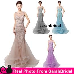elie saab gown real photo 2019 - Custom Made Real Photo Image Evening Dresses Luxury Designer Elie Saab Zuhair Murad Rhinestone African Blush Long Prom G