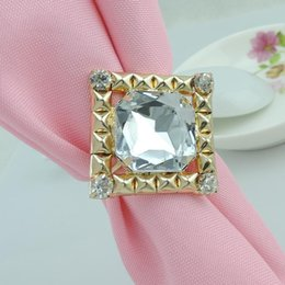 Crystal Ring Napkin Holder Wholesale NZ - Shiny Crystal Diamond Napkin Rings Napkin rings holder for Hotel Wedding Banquet Table Decoration Accessories Popular
