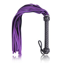 Adult Games Restraint Australia - Real Genuine Leather Whip Flogger Fetish S &M Bdsm Sex Toy For Couples Spanking Paddle Adult Games Bondage Restraints Sex Product