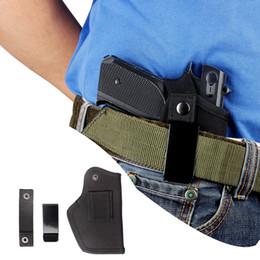 Gun holsters online shopping - Gun Holster Nylon Tactical Pistol Holster fits GLK17 G19 G22 G23 G32 G35 Clip Handgun Holsters Left Right