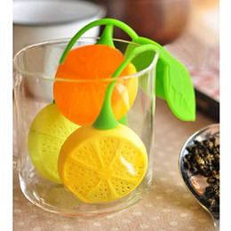 enamel teapots Canada - Drinker Teapot Teacup Herb Tea Strainer Filter Infuser Bag Lemon Silicone E00048 SMAD