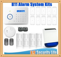 Gsm Pstn Dual Alarm NZ - Hot selling Chuango B11 Dual network PSTN and GSM burglar Security Alarm System P494kit