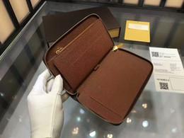 $enCountryForm.capitalKeyWord NZ - Brand New Zippy Organizer Long wallets for men Real Taiga leather travel wallet Top Damier Graphite Canvas designer clutch cheque book CX#92