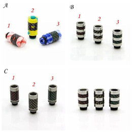 carbon fiber drip tips Australia - Carbon Fiber & Acrylic or SS Stainless Steel 510 Drip Tips Mouthpiece Wide Bore Drip Tips Colorful Drip tip fit RDA RBA RTA Atomizer
