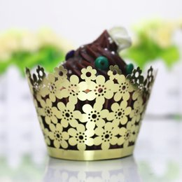 $enCountryForm.capitalKeyWord Australia - Cake Muffin Chocolate Cupcake Wrapper Baking Cup Cookie Decorative Papers Plum Blossom Cupcake Packs Laser Cutting
