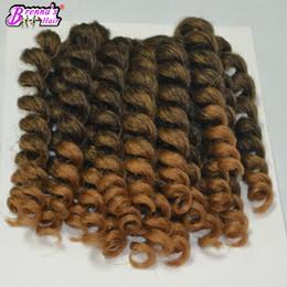 $enCountryForm.capitalKeyWord Canada - Bouncy wand curly wave synthetic braiding hair extension for black women freeshipping deep wave hair bundles bulk hair peices