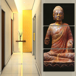 Deep Frames Canada - Home decor canvas, paintings on the walls Mould Cuadros full Buddha Trusts deep in our heart for the living room no frame