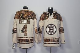 bruins jersey sweatshirt UK - Top Quality ! 2017 New Boston Bruins Old Time Hockey Jerseys 4 BOBBY ORR Camo Hoodie Pullover Sweatshirts Sport Winter Jacket