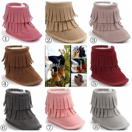 $enCountryForm.capitalKeyWord Canada - 2017 Baby 2Layer Fringe Style Boots Long Tassel Design infant Shoes Soft Sole Non-slip 8colors Toddles Winter Snow Boots