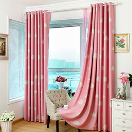fashion cloud cartoon children curtain thick heavy eyelet draperies cortina blinds shade full blackout curtain for living room ji0145