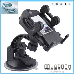 Car Universal Gps Box Canada - hot 158A Universal Bracket Suction Car Mount Holder 40-115mm Stand Rotatable For GPS Cellphones smart phone+ retail box