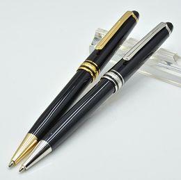 Di alta qualità Meisterstok 163 resina nera penna a sfera scuola cancelleria di lusso monte scrittura refill penne per regalo di affari