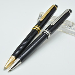 School finance online shopping - High Quality Meisterstok black resin ballpoint pen school office stationery luxury monte Writing refill pens for business Gift