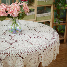 discount crochet round tablecloth pattern many size options round tablecloth hand crochet table cover