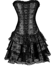 $enCountryForm.capitalKeyWord Canada - Pop sale shapers 4 colors lace evening sexy women corset and bustier Plus Size Push up Sexy Gothic corset dress with skirt