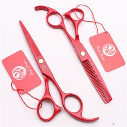 "Salon Style Hair Cuts NZ - Z1023 5.5"" 440C Purple Dragon Laser Professional Human Hair Scissors Barbers' Hairdressing Scissors Cutting Thinning Shears Salon Style Tool"