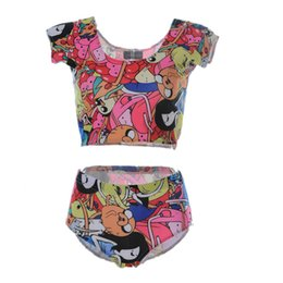 Barato Swimsuits Empurram A Praia-Summer Beach Suit Moda Bottom Women Swimming Wear 3D Print Bathing Sets Push Up Sexy Swimsuit Treasure Fetch Adventure Time LNHst