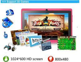 "Kids Tablet Pcs Inch NZ - Quad core android 4.4 allwinner a33 capacitive screen 7"" inch Dual Webcam 1gb 8gb children kids tablet pc the wifi g sensor DHL"