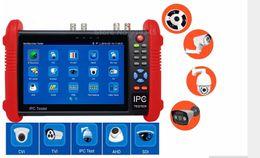 Ipc Free Canada - 7 Inch CCTV Tester Monitor IP Analog Camera Tester WIFI Onvif PTZ Control IPC9800 DHL free shipping,support HD-CVI,HD-TVI,AHD,IPC,CVBS,SDI.