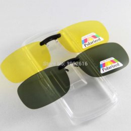Night Vision Eyeglasses Canada - Unisex Polarized Sunglasses Clip on Aviate Drive Sun Glasses Spectacles UV400 Goggles Eyeglasses Yellow Night Vision Glasses