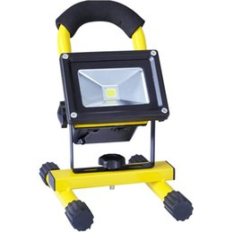 rechargeable flood lights Canada - Portable Floodlights Indoor Landscape LED Floodlights 10W Rechargeable Super Bright Flood Light 85-265V for Outdoor Lighting OED-BXTG-10W
