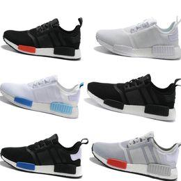 cd30258ff2354 NMD Runner R1 Mesh Triple White Cream Salmon City Paclk Men Women Running Shoes  Sneakers Original NMDs Runer Primeknit Sports Shoes