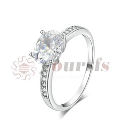 $enCountryForm.capitalKeyWord NZ - Yoursfs Classic 3ct Simulated CZ Diamond Wedding Rings For Women Platinum Plated Oval Shape Big Pendant Ring Online Shopping India