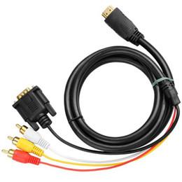 Toptan satış HDMI VGA 3 RCA Adaptörü Dönüştürücü Kablo 1080 p HDTV Anahtarı kablolama Adaptörü Veri kablosu Yüksek hızlı iletim