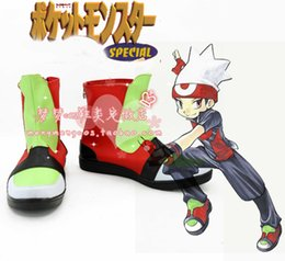 Costumes En Rubis En Gros Pas Cher-Vente en gros-Pocket Monster Ruby soecial ver Cosplay bottes chaussures bottes chaussures # NC218 anime Halloween Noël