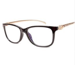 24aac0bb8d Vintage Leopard Optic Clear Eyeglasses Frame Brand Designer Women Eyewear  Decoration Reading Glasses Plain Mirror Spectacle Frame 720