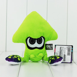 Hot Video Games NZ - Hot Game 23cm Splatoon Plush Toys Kawaii Squid Stuffed Doll With Key Ring Pendant For Backpack
