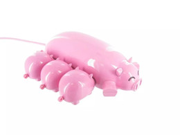 pig mobile UK - Wholesale Cartoon Pig USB Hub One drag three HUB Computer USB2.0 port splitter,Cute Pink Piggy Hub 3 Ports for data Expander & mobile charge