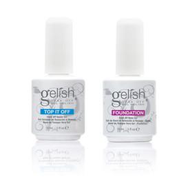 Основа Top Coat Nail Art Soak Off УФ-светодиодный гель-лак для ногтей Gelish 2Pcs / Lot Основа Top-it-Off