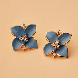 beautiful earrings girls 2018 - Jan6 Amazing 1 Pair Beautiful Flower Shape Stud Earring Women Girl Fashion Jewelry Brand New discount beautiful earrings