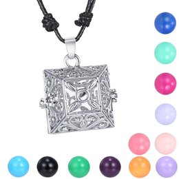 $enCountryForm.capitalKeyWord NZ - Pregnancy Ball Bola Chime Necklace Three-dimensional hollow out Pendant necklace flower necklace with rope chain Factory direct sale