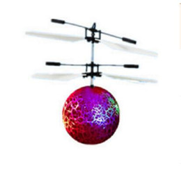 Flashing Helicopter Toy Australia - Toys For Children Christmas Gifts Aircraft Helicopter Toy Light Up Kids Flying Ball Led Flashing Electric Toy Induction DHL Free Shipping