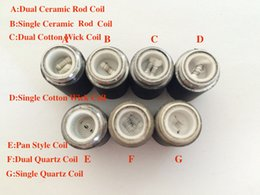 Vapor cores online shopping - Skillet Atomizer Coil Core Skillet Wax Vaporizer dual Coil Head for replacement Skillet Wax tank Vapor Ego D dual quartz Core