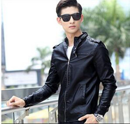 led costumes 2019 - leather men's spring stand Shore design loose fitting leather jacket outerwear lead singer dress costumes clohting