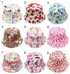 Chinese  baby caps hats Children flower pots canvas sun hat wholesale children's temperament casual sun Lovely Baby boy girl Beanies manufacturers
