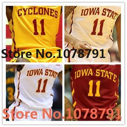 red basketball jerseys Australia - 100% Stitched 2016 Iowa State Cyclones Jersey 11 Monte Morris Jersey College Basketball Jerseys,Embroidery Red White XXS-6XL