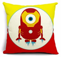 $enCountryForm.capitalKeyWord Canada - Iron man the US hero minions emoji pillowcase massager decorative pillows art painting home decor gift kids cartoon gift